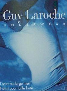 UNDERWEAR GUY LAROCHE UNDERWEAR T-SHIRT GB50XX WHITE 6XL BIG #109994