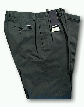 CASUAL SLACKS NAUTICA 2-PLEAT CUFF PANT D01157 445 NAVY 48 30 #106746