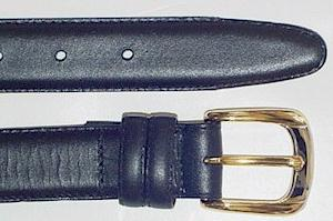 BELTS - CASUAL MARK WOLF OIL TAN LTHR KEEPER 400-BLK BLACK 48  #295145