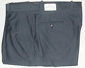 DRESS SLACKS BIELLA-ITALIA HERRINGBONE 2 PLEAT 748175-055L NAVY 54 LONG #026938