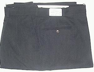 DRESS SLACKS BIELLA-ITALIA GAB 100S 2 PLEAT 748179-021L CHARCOAL 44 LONG #029661