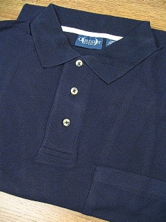 SPORTSHIRT SS KNIT OUTFITTER POCKET PIQUE POLO TM 102TD-A03 NAVY 2XL TALL #162931
