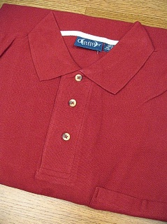SPORTSHIRT SS KNIT OUTFITTER POCKET PIQUE POLO TM 102TD-A27 WINE 2XL TALL #196598