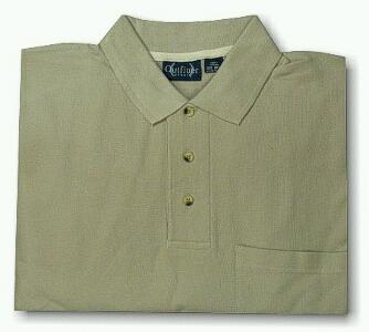 SPORTSHIRT SS KNIT OUTFITTER POCKET PIQUE POLO TM 102TD-A62 PUTTY XL TALL #195771