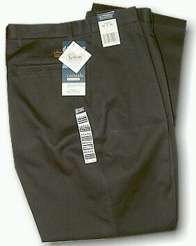 CASUAL SLACKS WRANGLER STAIN RESIST PLEAT 37799DB BLACK 50 30 #136864