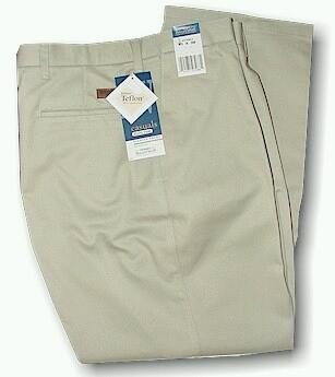CASUAL SLACKS WRANGLER STAIN RESIST PLEAT 37799KH KHAKI 50 32 #274922