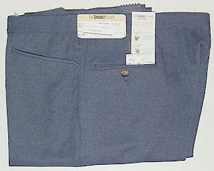 DRESS SLACKS SANSABELT ALL POLY TOP POCKET 2043-JPFR BLUE 40 LONG #082897