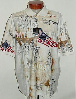 SPORTSHIRT SS KNIT CTTON TRADERS USA BATTLES S-NORMAN NATURAL XL TALL #314765