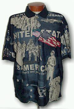 SPORTSHIRT SS KNIT CTTON TRADERS USA BATTLES S-NORMAN NAVY XL TALL #049935