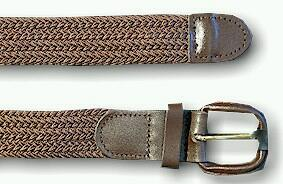 BELTS - CASUAL FRENCH CRAFT STRETCH FABRIC BELT EL02089X BROWN 60  #326193