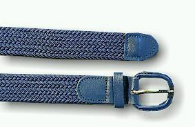BELTS - CASUAL FRENCH CRAFT STRETCH BELT EL02089XX NAVY 64  #312932