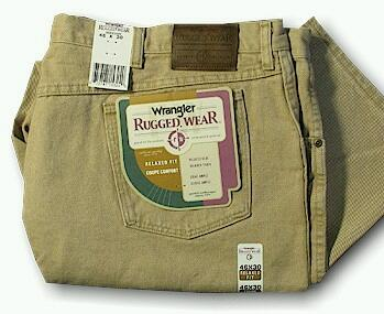 JEANS WRANGLER RELAXED FIT JEAN 35002-WH WHEAT 52 30 #165608