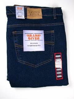 JEANS GRAND RIVER STRETCH DENIM JEAN 180T BLUE 42 38 #337395