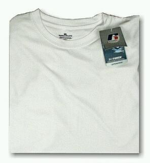 ATHLETIC WEAR RUSSELL DRI-POWER CREW TEE RMDP615 WHITE 4XL TALL #074728