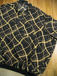 SPORTSHIRT SS BAND BOTTOM FULTON STREET GOLD WEBS FS-AJ BLACK 6XL BIG #228208