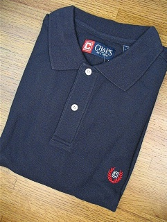 SPORTSHIRT SS KNIT CHAPS SOLID PIQUE POLO 10111-410 NAVY 3XL BIG #151485