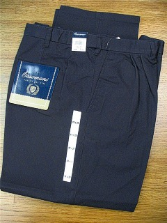 CASUAL SLACKS COPPER COVE PLEAT XPAND WRNKLFREE C3021-NVY NAVY 44 38 #327422