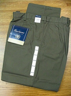 CASUAL SLACKS COPPER COVE PLEAT XPAND WRNKLFREE C3021-OLV OLIVE 52 32 #247485