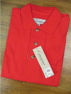 SPORTSHIRT SS KNIT COPPER COVE POCKET PIQUE C1000 RED 2XL TALL #147451