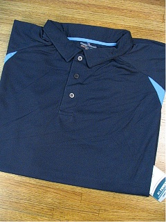 ATHLETIC WEAR RUSSELL 2-TONE DRI-POWER POLO RDPP175 NAVY 5XL TALL #261083