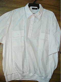 SPORTSHIRT SS BAND BOTTOM FULTON STREET MIXED MEDIA 2 POCKET FS22200 WHITE 4XL BIG #241216