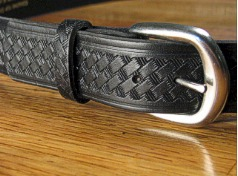 BELTS - CASUAL MARK WOLF BASKET WEAVE 1 1/2 204-BLK BLACK 48  #240891