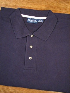 SPORTSHIRT SS KNIT OUTFITTER PIQUE POLO NON-POCKET 103-A03 NAVY L TALL #061753