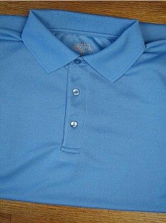 ATHLETIC WEAR RUSSELL DRI-POWER SOLID POLO RDPP193 BLUE 2XL TALL #237062