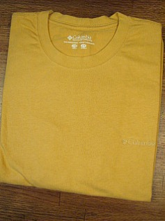 POCKET TEES COLUMBIA SPORTSWEAR EMBROIDERED TEE AXJ-2498-702 GOLD XL TALL #185736