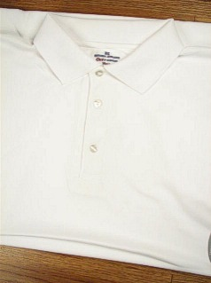 ATHLETIC WEAR RUSSELL DRI-POWER SOLID POLO RDPP193 WHITE 6XL BIG #215541