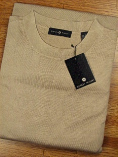 LS KNIT CREW CTTON TRADERS SOLID SILK CREWNECK 1A20-14C SAND XL TALL #290803