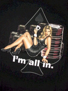 POCKET TEES CORZINI WORLD POKER TOUR GIRL WORLD POKER BLACK 3XL BIG #151258