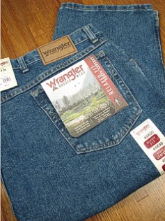 JEANS WRANGLER RELAXED FIT JEAN 35001-AI-X INDIGO 58 32 #241687