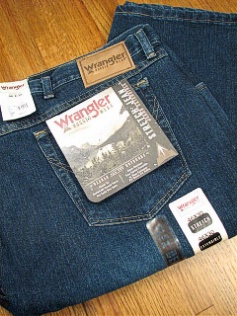 JEANS WRANGLER RELAXED FIT JEAN 35001-AN NAVY 52 32 #248707