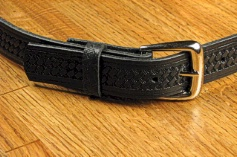 BELTS - CASUAL MARK WOLF BASKET WEAVE 1-1/4 110-BLK-XX BLACK 72  #140647