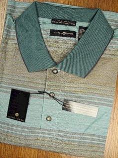 SPORTSHIRT SS KNIT CTTON TRADERS 70S 2-PLY MERCERIZED 1M15-208C OCEAN 2XL BIG #348164