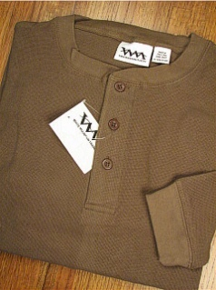 LS KNIT CREW WHITE MOUNTAIN MICRO THERMAL HENLEY 2120-A09 OLIVE 2XL BIG #038849