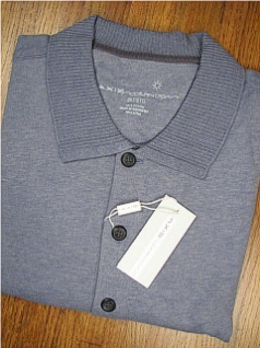 LS KNIT CREW AXIS SUEDED JERSEY POLO 77FK1650-492 CHAMBREY 2XL BIG #047522