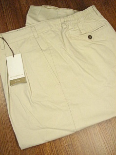 CASUAL SLACKS CUTTER BUCK SIDE-ELASTIC PLEAT WF BCB06367 BONE 58 REG #350183