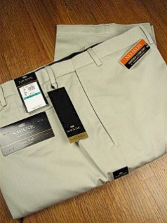 CASUAL SLACKS SAVANE LUSTERWASH TWILL FLAT S6FB0338-120 STONE 50 32 #104061