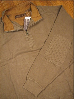 LS KNIT CREW WOOD LAND TRAIL MOLESKIN 1/4 ZIP 2800-158W FOREST 2XL BIG #173717