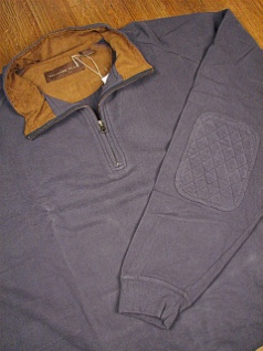 LS KNIT CREW WOOD LAND TRAIL MOLESKIN 1/4 ZIP 2800-158W NAVY 2XL BIG #012193