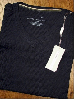 SPORTSHIRT SS KNIT AXIS LOUVRE RIB V-NECK 78SK1970-411 NAVY 6XL BIG #262185