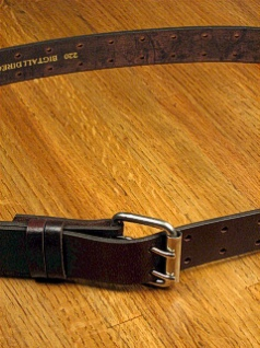 BELTS - CASUAL MARK WOLF DOUBLE PRONG HOLES 220-BRN-X BROWN 56  #162656