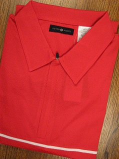 SPORTSHIRT SS KNIT CTTON TRADERS TECH KNIT WITH ZIPPER 3700-607C RED 4XL BIG #093785