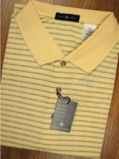 SPORTSHIRT SS KNIT CTTON TRADERS TECH KNIT WITH POCKET 3700-610C YELLOW 3XL TALL #140070