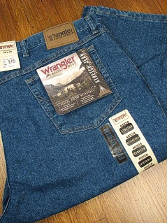 JEANS WRANGLER RELAXED FIT STRETCH 35005-SW-X BLUE 58 30 #226987