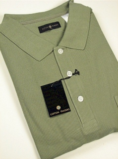 SPORTSHIRT SS KNIT CTTON TRADERS SOLID POCKET PIQUE 1140 SAGE 2XL TALL #329815