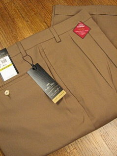 DRESS SLACKS SAVANE LUSTER GAB COMFORT S6FB0335 MUSHROOM 50 28 #240853