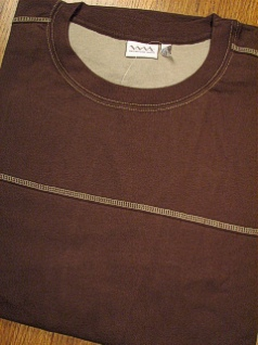 LS KNIT CREW WHITE MOUNTAIN SUEDED PCD CREW 2147 BROWN 4XL BIG #120887